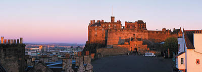 Castle In A City, Edinburgh Castle Poster by Panoramic Images