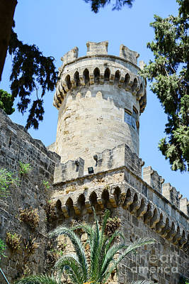 Castle In Rhodes Greece - The Palace Of The Grand Master Of The  Poster