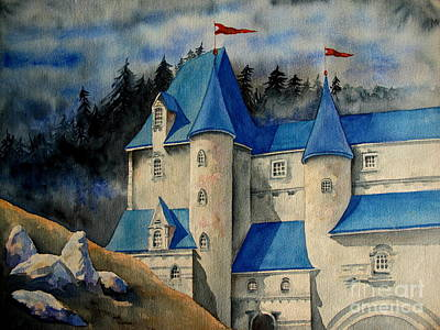 Castle In The Black Forest Poster