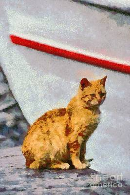Cat In Hydra Island Poster by George Atsametakis