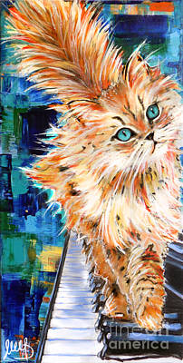 Cat Orange Poster by Melanie D