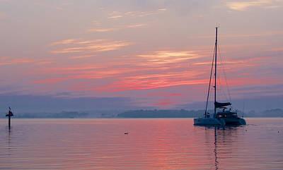 Catamaran At Dawn Poster