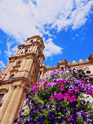 Cathedral In Malaga Poster by Karol Kozlowski