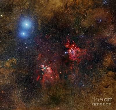Cat's Paw Nebula, Optical Image Poster