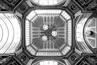 Ceiling Of Leadenhall Market In London Poster by Chevy Fleet