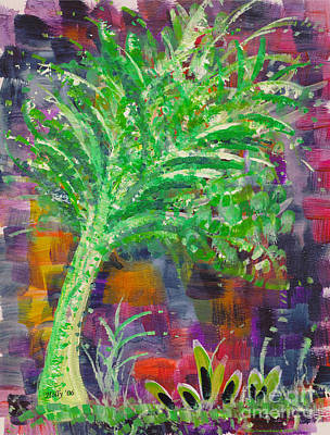 Poster featuring the painting Celery Tree by Holly Carmichael