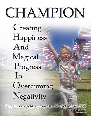 Champion Buseyism - Original Buseyism Artwork Poster by Buseyisms Inc Gary Busey