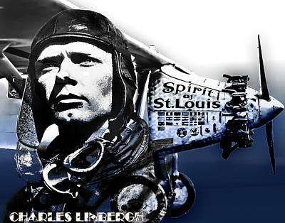 Charles Lindbergh  Poster by Lamyl Hammoudi
