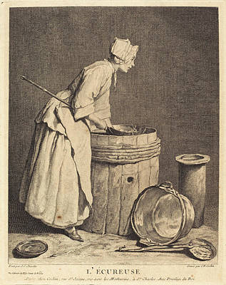 Charles-nicolas Cochin I After Jean Siméon Chardin French Poster