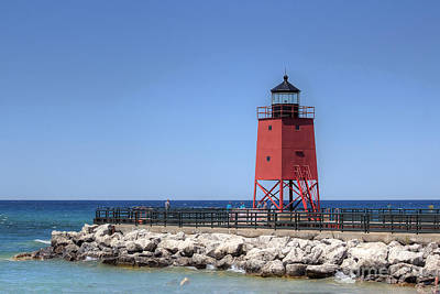 Charlevoix Lighthouse Poster by Twenty Two North Photography