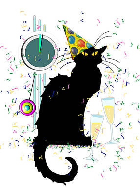 Chat Noir New Years Party Countdown Poster