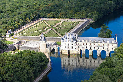 Chateau Chenonceau Poster by Mick Flynn