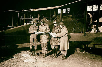 Checking Flight Plans 1920 Poster