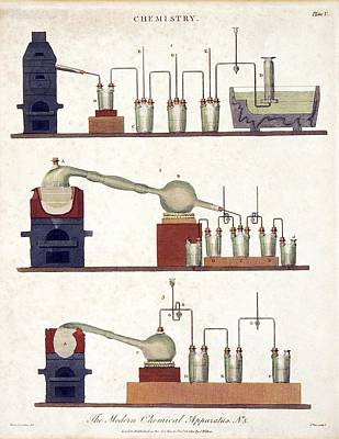 Chemistry Equipment, Early 19th Century Poster