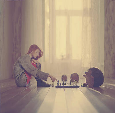 Chess Poster by Anka Zhuravleva