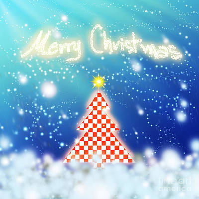 Chess Style Christmas Tree Poster by Atiketta Sangasaeng