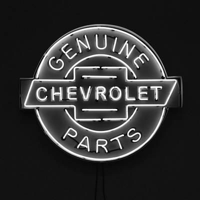 Chevrolet Neon Sign Poster by Jill Reger