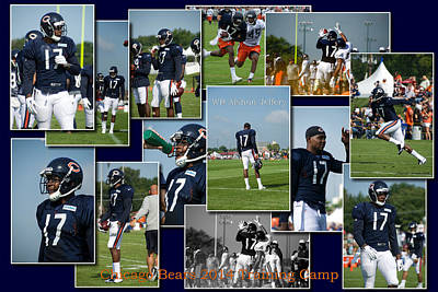 Chicago Bears Wr Alshon Jeffery Training Camp 2014 Sc Poster