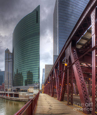Chicago Loop From Lake Street Bridge Poster by Twenty Two North Photography