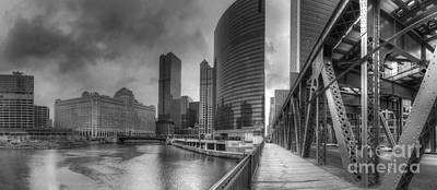 Chicago River From Lake Street Bridge Poster by Twenty Two North Photography