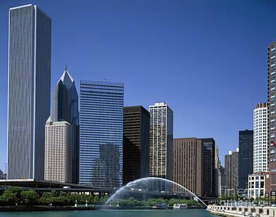 Chicago Skyline Poster by Rafael Macia
