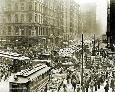 Chicago Traffic, 1909 Poster by Granger