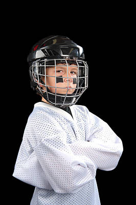 Child Hockey Player Poster