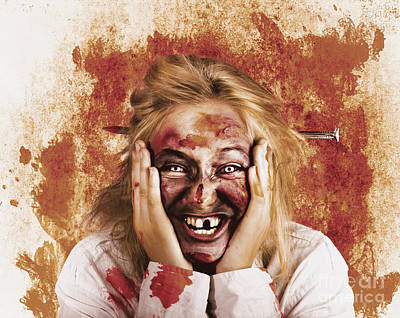 Chilling Female Halloween Spook. Grunge Horror Poster by Jorgo Photography - Wall Art Gallery