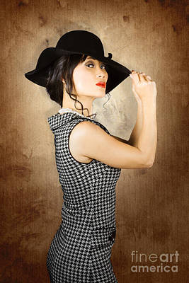 Chinese Woman Posing With Fashionable Summer Hat Poster by Jorgo Photography - Wall Art Gallery
