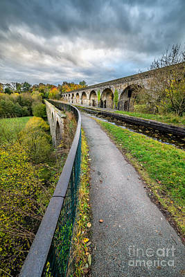 Chirk Aqueduct Poster by Adrian Evans