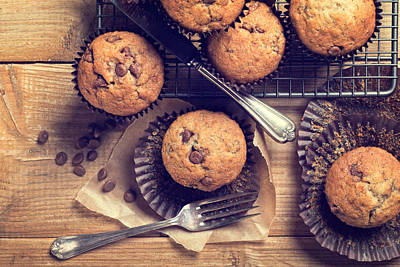 Choc Chip Muffins Poster by Amanda Elwell