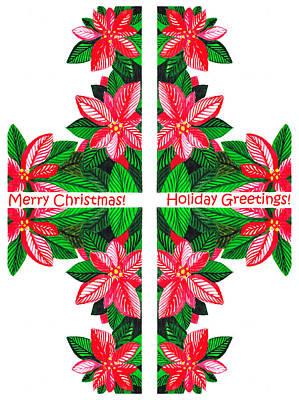 Christmas Card Poster by Irina Sztukowski