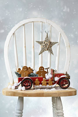 Christmas Gingerbread Poster by Amanda Elwell