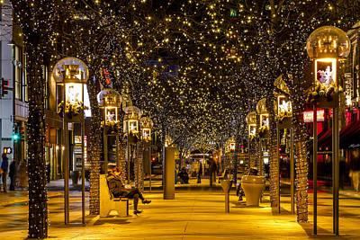 Christmas In Denver Colorado Poster by Teri Virbickis