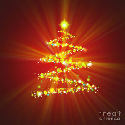 Christmas Tree Poster by Atiketta Sangasaeng