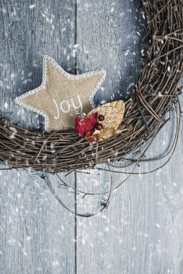 Christmas Wreath Poster by Amanda Elwell