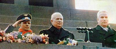 Chrushtchev And Gagagrin Poster