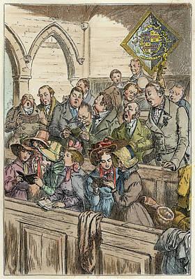 Church Choir, 1875 Poster by Granger