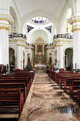 Church Interior In Puerto Vallarta Poster by Elena Elisseeva