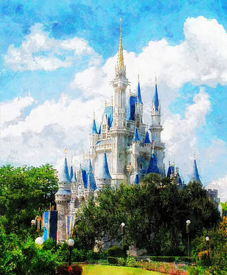 Cinderella Castle Poster by Sandy MacGowan