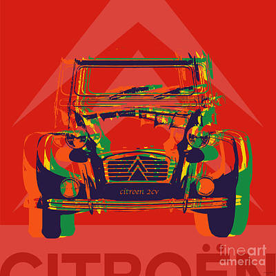 Citroen 2cv Poster by Jean luc Comperat