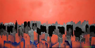 City Skeleton Poster by Robert Handler