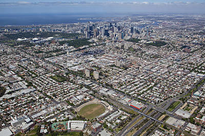 City Skyline From Victoria Park Poster by Brett Price