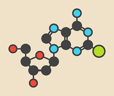 Cladribine Cancer Drug Molecule Poster by Molekuul