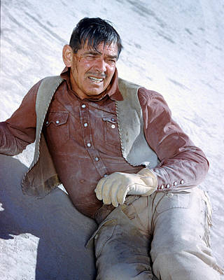 Clark Gable In The Misfits Poster by Silver Screen