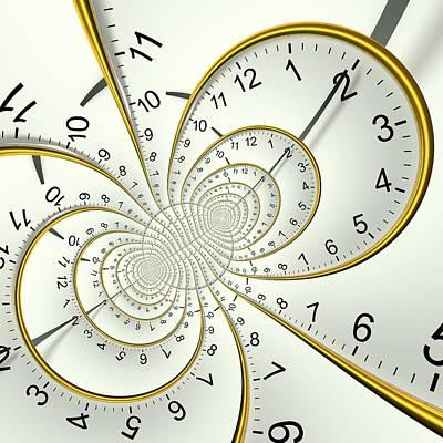 Clockface Spacetime Warp Poster