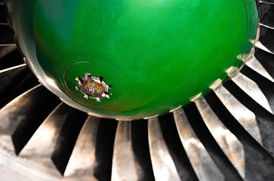 Closeup Of A Jet Turbine Engine Poster