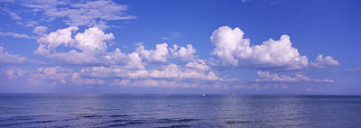 Clouds Over The Sea, Tampa Bay, Gulf Of Poster