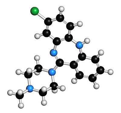 Clozapine Antipsychotic Drug Molecule Poster