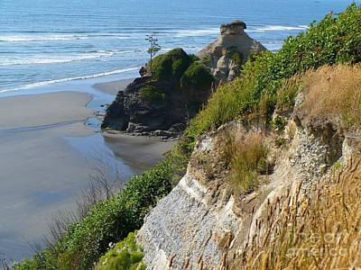 Coastal Strata Poster by Gayle Swigart